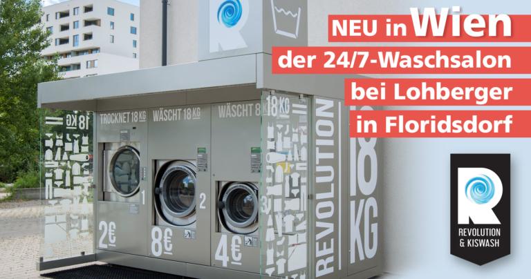 Revolution 24/7 Selbstbedienungs-Waschsalone in 1210 Wien, bei Lohberger Diskont Tankstelle